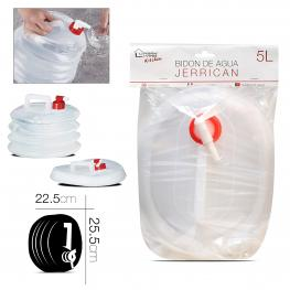 Bidon Transparente de Agua 5 L