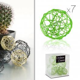Bolas de Hilo de Metal Verde Manzana X7 60 Gr