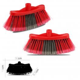 Cepillo de Barrer Coral Rojo (Sin Palo) 30X8.5X14