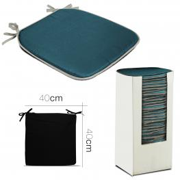 Cojin Impermeable P/ Asiento Azul 40 X 40 X 2 Cm