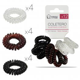 Coletero Plastico Muelle X 12 Trans./marron /negro