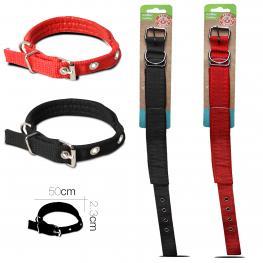 Collar Perro Talla Xl 50 X 2.3 Cm Rojo / Negro