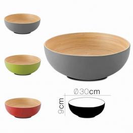 Ensaladera de Bambu Koa 30 X 9 Cm 3 Colores
