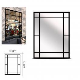 Espejo Negro Metal 61 X 69 Cm
