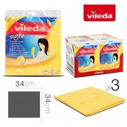 Bayeta Vileda Multiusos Style X3  34 X 34 Cm