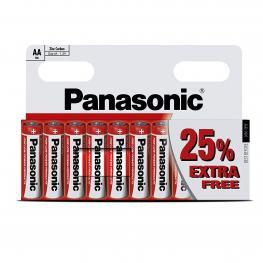 Pilas Lr6 Aa Panasonic Red X10