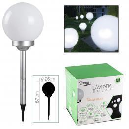 Lampara Solar Bola  Diametro 25 X H 67 Cm
