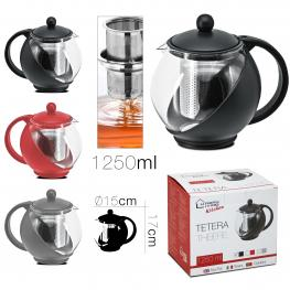 Tetera 1250 Ml Negro / Rojo / Gris