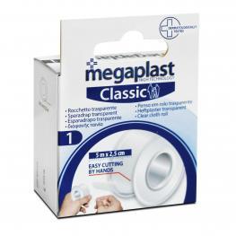 Esparadrapo Transp. Megaplast 5 Metros X 2.5 Cm