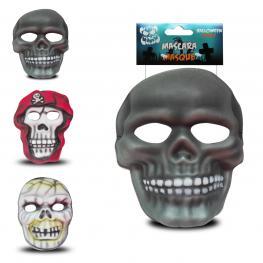 Mascara Eva Halloween Niños 3 Modelos 3D