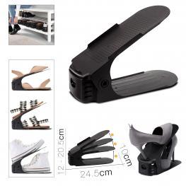 Organizador Zapato 24.5 X 10  X 12 - 20.5 Cm Negro