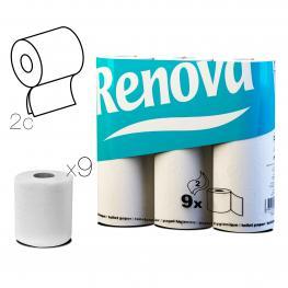 Papel Higiénico Renova X9 Rollos Blanco