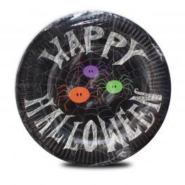 Platos de Papel Halloween X 25 4 Modelos