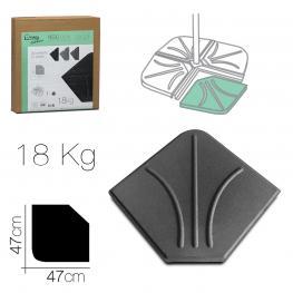 Peso Para Pie de Sombrilla 18 Kg Gris 47 X 47 Cm