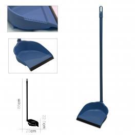 Recogedor Con Mango Metalico 80 Cm Azul