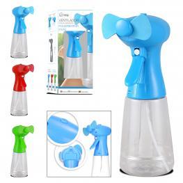 Ventilador Manual Con Spray 21 X 8 Cm (Sin Pila)