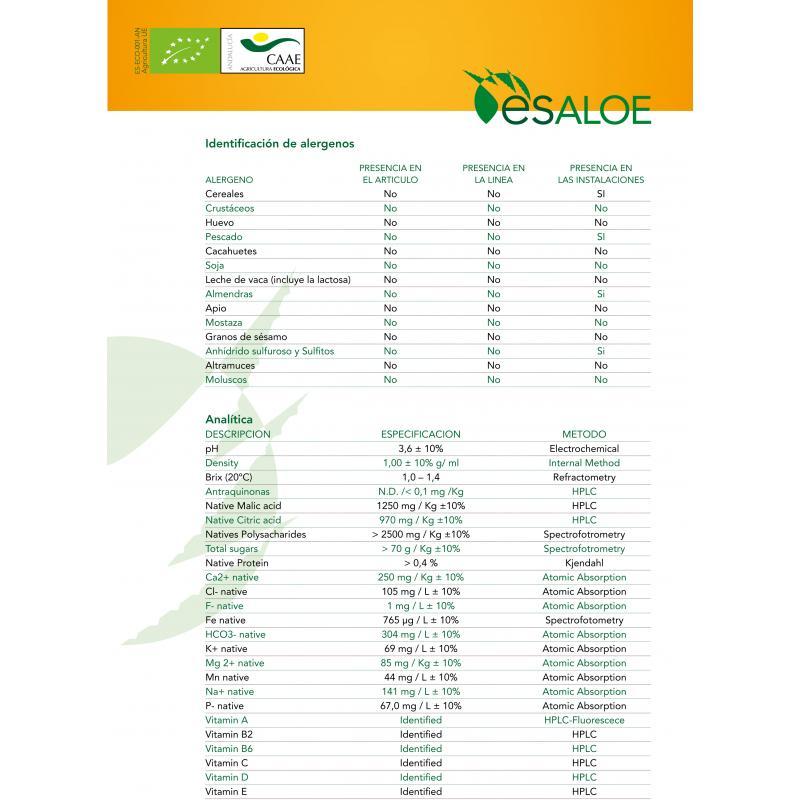 Zumo de Aloe Vera Producto Ecológico