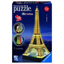 Ravensburger 3D Puzzle la Torre Eiffel de Noche