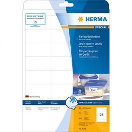 Herma Etiquetas Para Congelados 66X33,8 25 Hojas A4 600Uds 4389