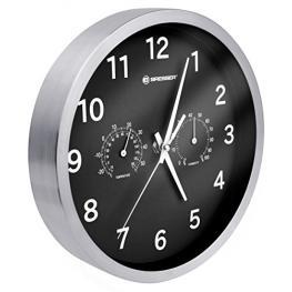 Bresser Mytime Reloj de Pared Termo-/higro- 25Cm Negro