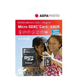 Agfaphoto Mobile High Speed 64Gb Microsdxc Clase 10 + Adaptador