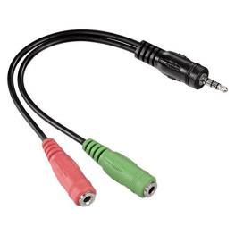 Hama Adaptador Jack 4 Pin 3,5Mm J.Plug/2X 3,5Mm J.Socket 54573