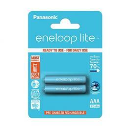1X2 Panasonic Eneloop Lite Micro Aaa 550 Mah