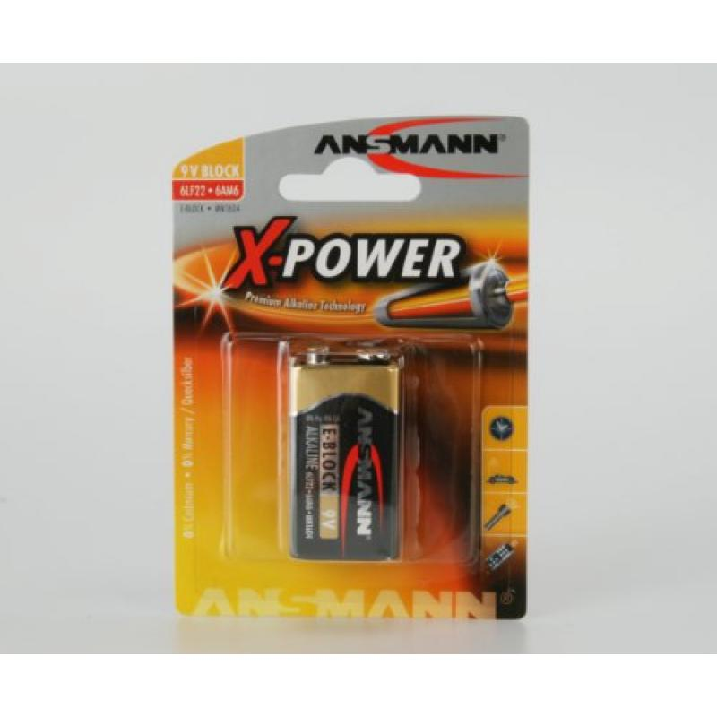 1 Ansmann Pila Alcalina 9V X-Power