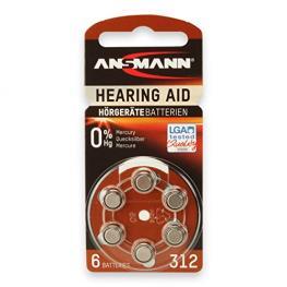 1X6 Ansmann Zinc-Air 312 (Pr 41) Pilas Para Audífonos