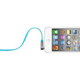 Belkin 3,5Mm Cable Conector Jack En ángulo Plano 0,9M Azul