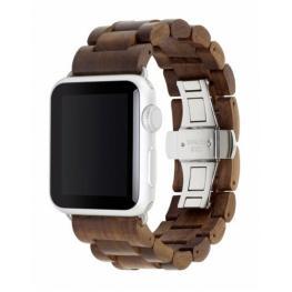Woodcessories Ecostrap Apple Watch Band 42Mm, Nuez Plata