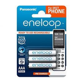 1X3 Panasonic Eneloop Micro Aaa 750Mah Dect Bk-4Mcce/3De