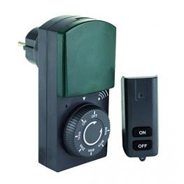 Rev Timer With Remote Control Ip44 Black-Green