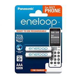1X2 Panasonic Eneloop Micro Aaa 750Mah Dect Bk-4Mcce/2De