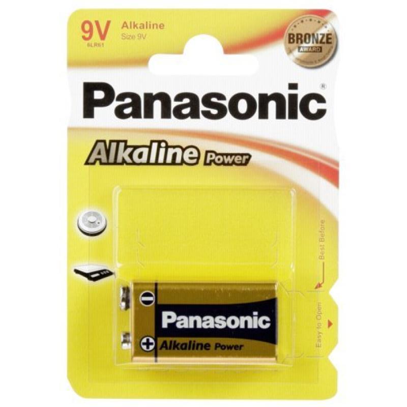 1 Panasonic Alkaline Power 9V-Block
