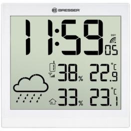 Bresser Temeotrend Jc Blanco Lcd Reloj Meteorológico
