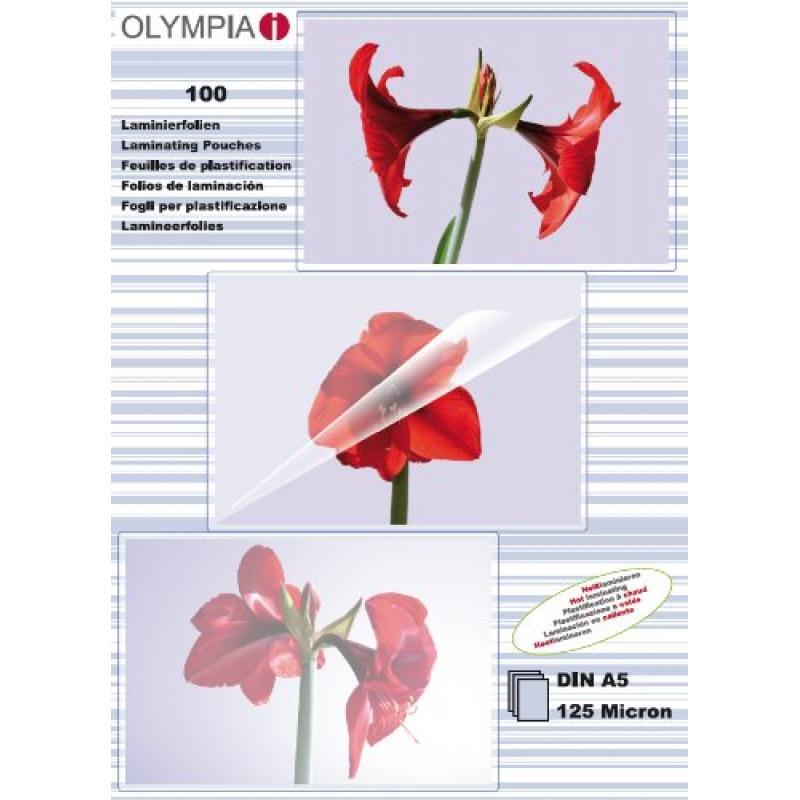 1X100 Olympia Folio Laminación Din A5 125 Micras  9177