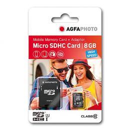 Agfaphoto Mobile High Speed 8Gb Microsdhc Clase 10 + Adaptador