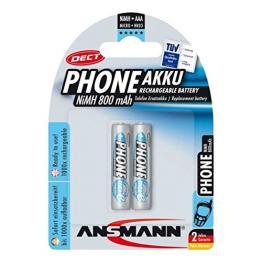 1X2 Ansmann Maxe Nimh Pilas Micro Aaa 800 Mah Dect Phone