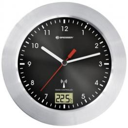 Bresser Mytime Bath Negro Reloj de Baño Radiocontrolado