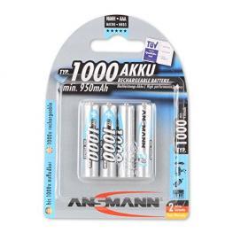 1X4 Ansmann Nimh Pilas 1000 Micro Aaa 950 Mah
