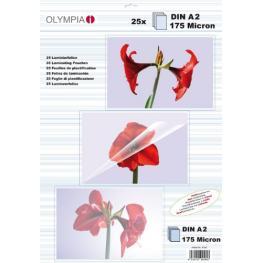 1X25 Olympia Folio de Laminación Din A2 175 Micron           9184