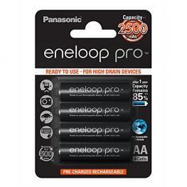 1X4 Panasonic Eneloop Pro Mignon Aa 2450Mah