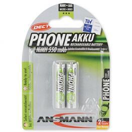 1X2 Ansmann Maxe Nimh Pilas Micro Aaa 550 Mah Dect Phone