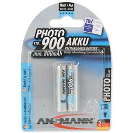1X2 Ansmann Maxe Nimh Akku 900 Micro Aaa 800 Mah Photo