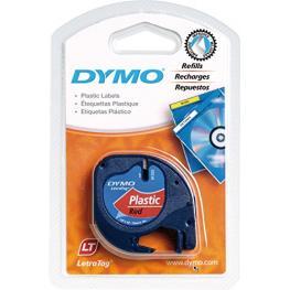 Dymo Letratag Cinta de Plástico Rojo 12Mm X 4M       91223