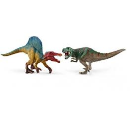 Schleich Dinosaurs 41455 Espinosaurio y T-Rex, Pequeños