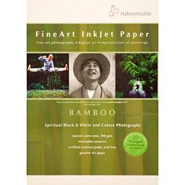 Hahnemühle Bamboo            A 4 290 G, 25 Hojas, Natural Blanco