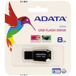 Adata Usb 2.0 Stick Uv100 Negro 8Gb