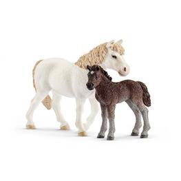 Schleich Farm World        42423 Pony Stute Und Fohlen